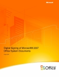 Digital Signing of Microsoft 2007 Office System Documents